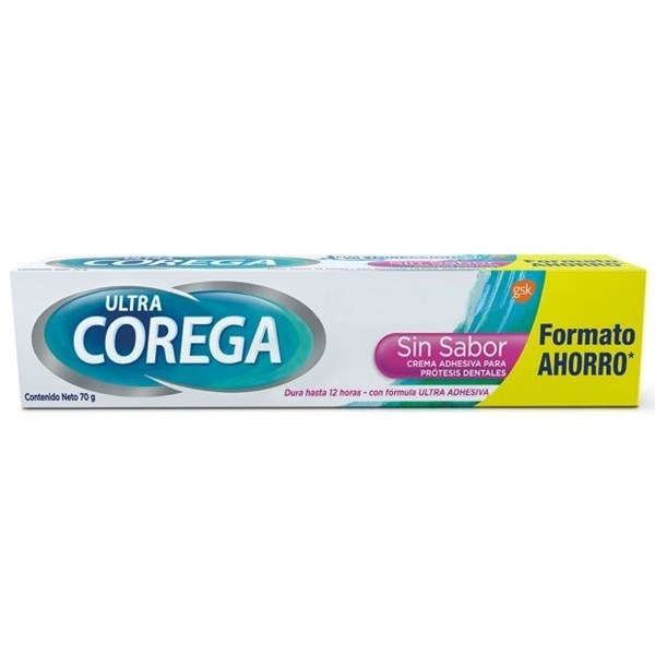 Ultra Corega Adhesivo Sin Sabor Para Prótesis 70gr