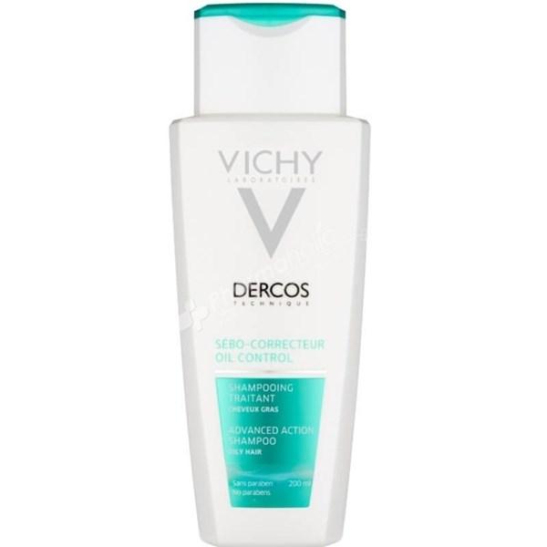 Vichy Dercos Shampoo Sebo Corrector Cabellos Grasos 200ml  alt