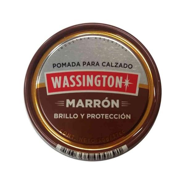 POMADA WASSINGTON MARRON OSCURO x 32 GRS