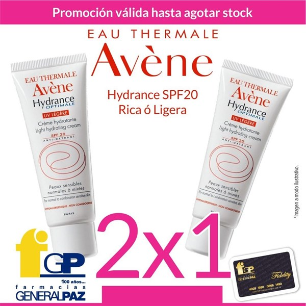 Avene Hydrance Optimale Uv Riche Spf 20 Hidratación (2x1)