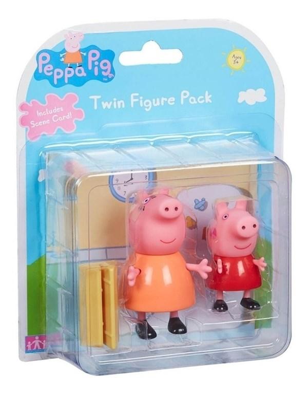 Figuras Peppa Pig Set x2