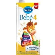 SancorBebé Leche Infantil Líquida Etapa 4 x 1 lt