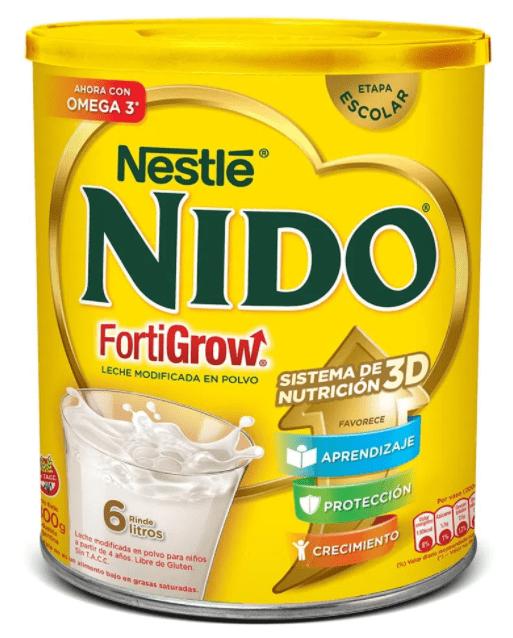 Leche Nestle Nido Fortigrow x 800 grs