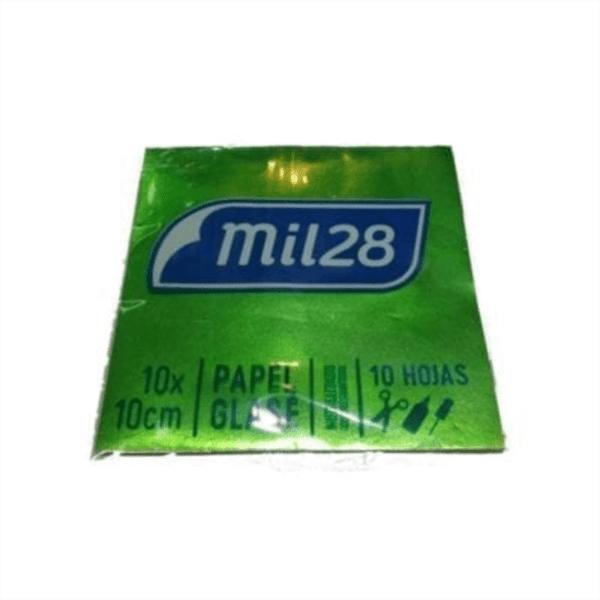 Papel glacé Mil 28 metalizado