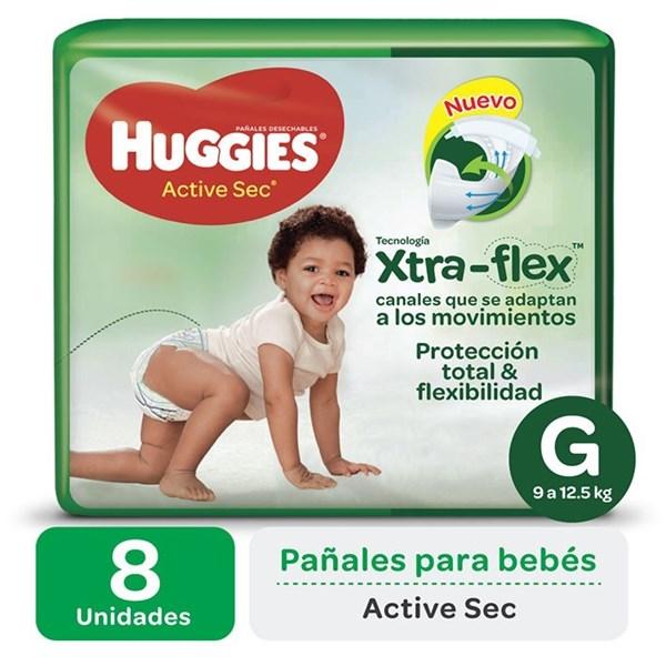 Huggies Pañales Active Sec G Regular x 8 u