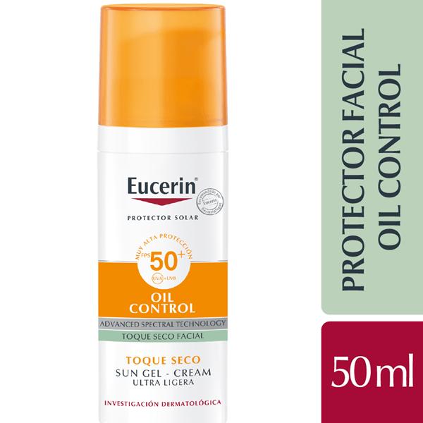Eucerin Sun Gel-Crema Oil Control Toque Seco FPS50+ 50 ml