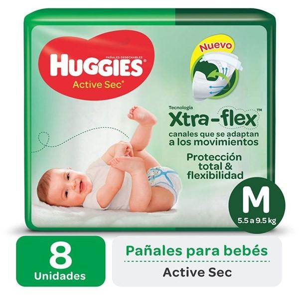Huggies Pañales Active Sec M Regular x 8 u