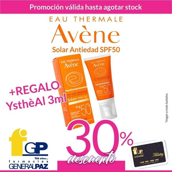 Avene Protector Solar Crema Spf 50+ Anti-age X 50ml + Regalo YsthéAL Antiarrugas 3ml alt