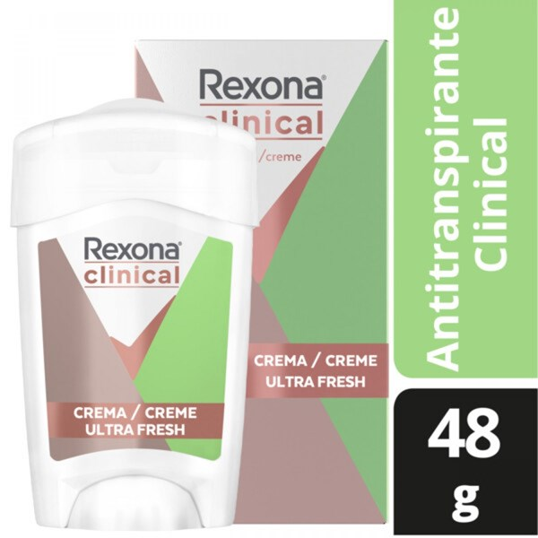 Desodorante Rexona Women Antitranspirante Clinical Ultra Fresh X 48 Gr