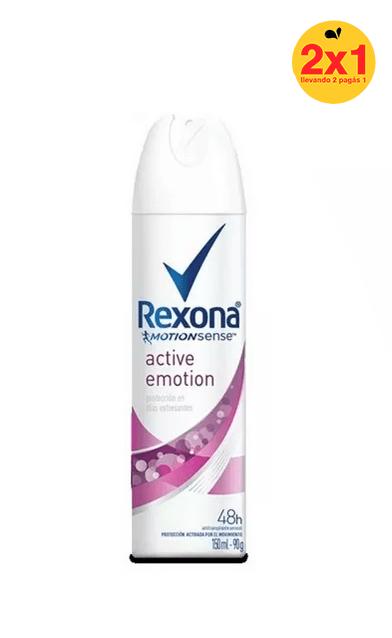 Rexona Antitranspirante Emotion Deo Aerosol 150ml 2x1