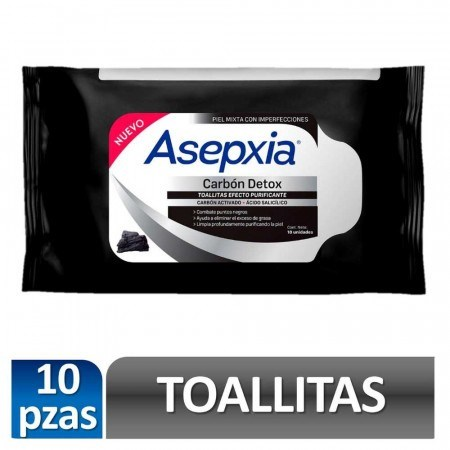 Asepxia Toallitas Purificantes Carbon Detox X 10unidades