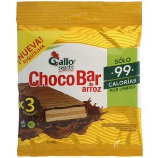 OBLEA DE ARROZ CHOCOBAR GALLO X3