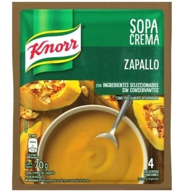 SOPA CREMA  KNORR  ZAPALLO x 70 GRS