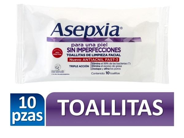 Asepxia Toallitas Desmaquillantes x10u