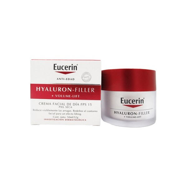 Eucerin Hyaluron-filler Crema Facial De Dia Fps 15 + Volume Lift