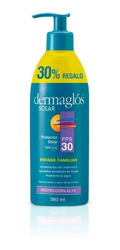 Protector Solar Dermaglos Fps 30 Envase Familiar X 380 Ml #1