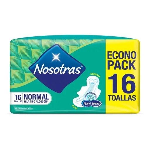 Nosotras Toallitas Normal 16un.
