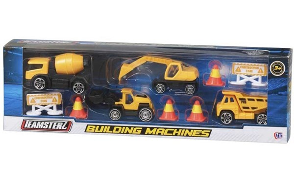 Set Camiones Building Machines Teamsterz