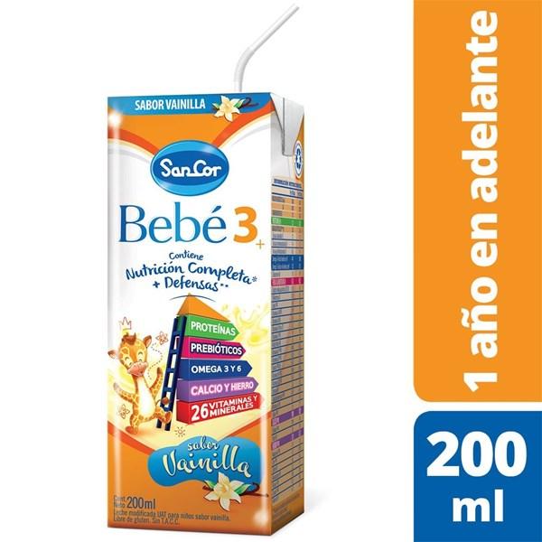 Leche Sancor Bebe 3 (Nutrición Completa) Vainilla Brick X 200 Ml