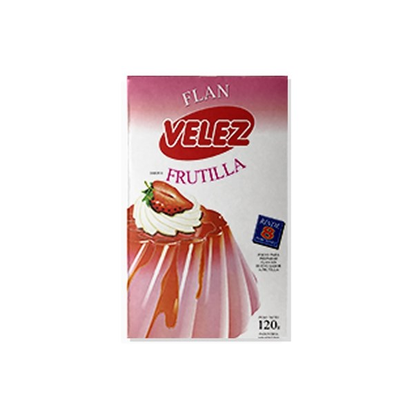 FLAN VELEZ FRUTILLA x 120 GRS