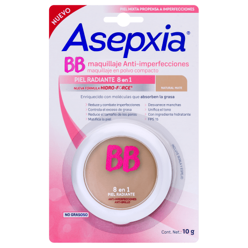 Asepxia Maquillaje Antiacnil Natural Polvo  alt