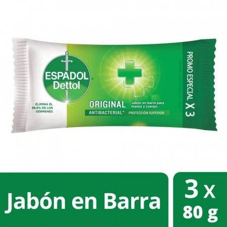 Espadol Dettol Jabón Original X 80 Gr