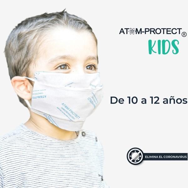 Mascarilla Atom Protect Conicet Infantil 10 a 12 años