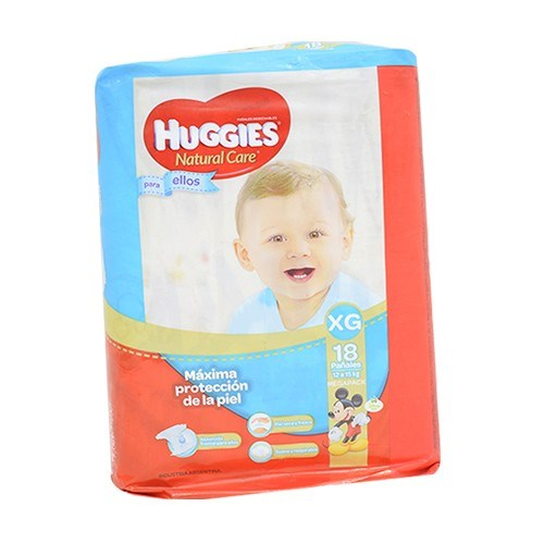 Huggies Pañales x 18Un Natural Care Mega talle XG