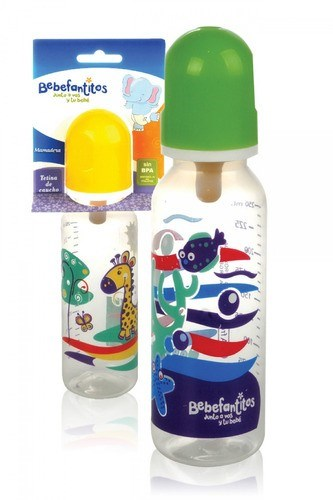 Bebefantitos Mamadera Plastica con Tetina de Silicona 250ml #1