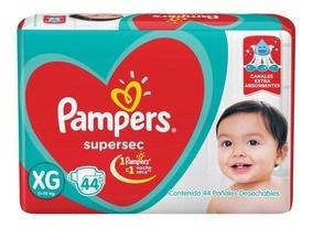 PL PAMPERS SUPERSEC HIPER EG x 44 U