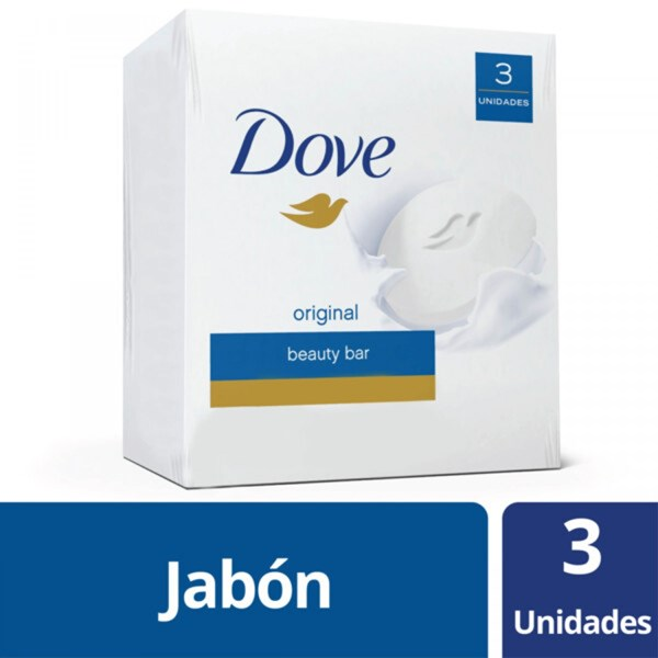 Jabon Dove Blanco 3 X 90 Gr