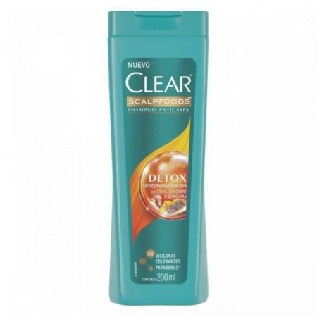Clear Shampoo Detox Anticontaminacion x 200 ml