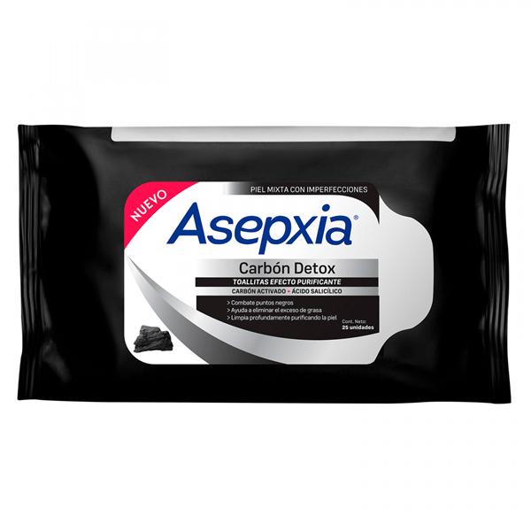 Asepxia Toallitas Carbón X 25 Unidades alt