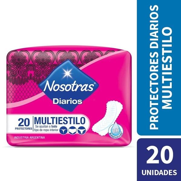 Nosotras, Protectores Diarios Multiestilo 20 un