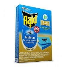 Raid Tabletas 5en1 x24 Unidades