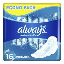 Always Toallitas Femeninas Ultra Maxi Protección Seca x16 unidades