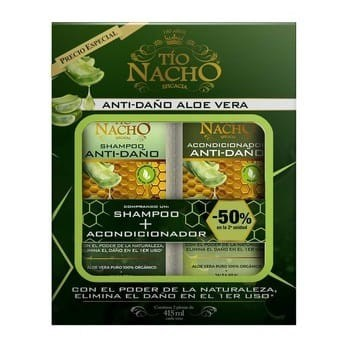 Tío Nacho Eficacia Anti-Daño Aloe Vera Shampoo+Acodicionador x415ml