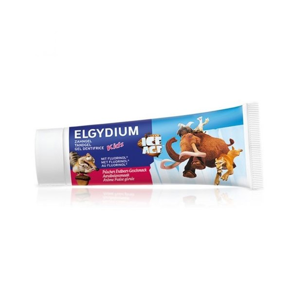 "ELGYDIUM KIDS ""ICE AGE"" pasta dental x 50 ml. Sabor FRESA FRESCA"