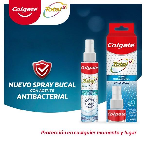 Spray Bucal Colgate Total 12 con Agente Antibacterial x 60 ml PROMO 2X1 alt