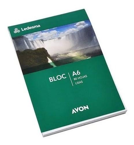 Bloc Anotador Avon A6 80 Hojas Lisas