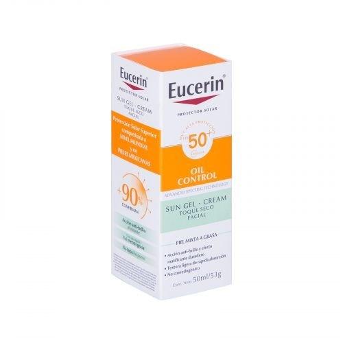 Eucerin Protector Solar Facial Toque Seco Sun Oil SPF 50 50ml alt