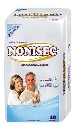 Nonisec Toallitas Para Incontinencia Fuerte x10 Unidades