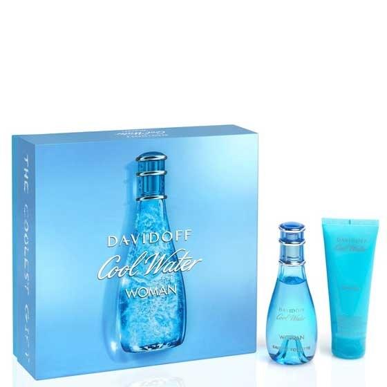 Estuche Davidoff Cool Water Fem Perfume x 100 Ml + Crema