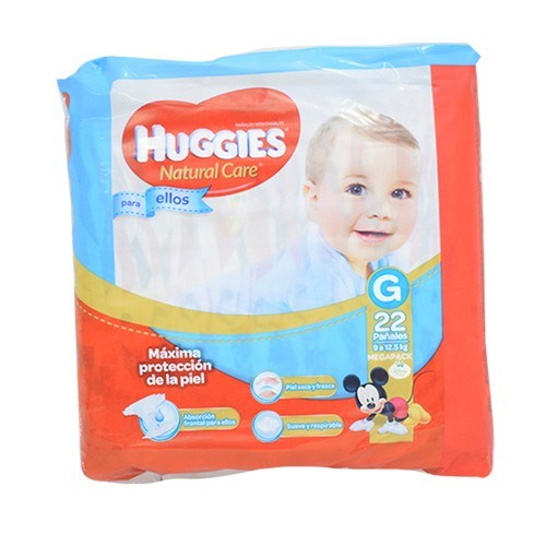 Huggies Pañales x 22Un Natural Care Mega talle G