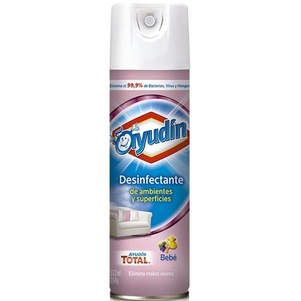 Ayudin Desinfectante Aerosol Aroma Bebé 332ml