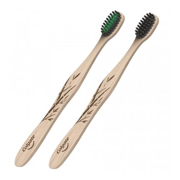 Colgate Cepillo Dental Bamboo Suave x2 alt