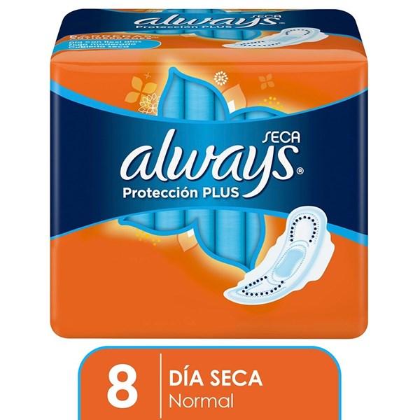 Toallitas Higienicas Always Basica Plus Seca C/Alas X 8 Unidades