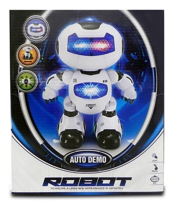 Robot Interactivo Con Luz y Sonido alt