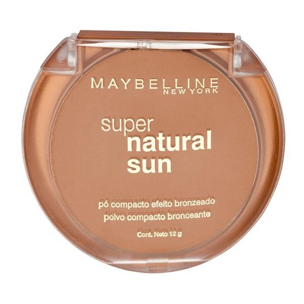 Polvo Compacto Maybelline Super Natural Sun 24 Dark Sun X 12 Gr