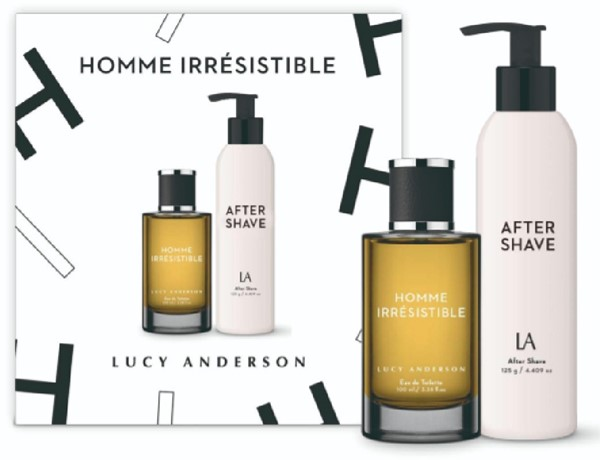 Homme Irresistible EDT For Him by Lucy Anderson X 100 Ml + After Shave Balsam X 125 Gr